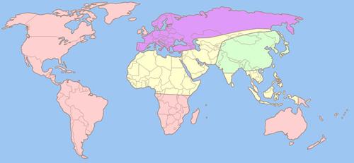 La mappa politica del mondo nel romanzo 1984