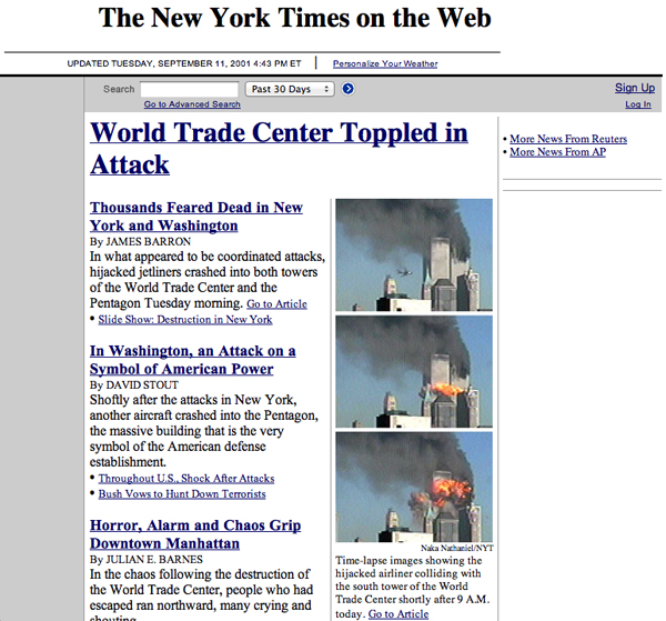 Screenshot di The New York Times