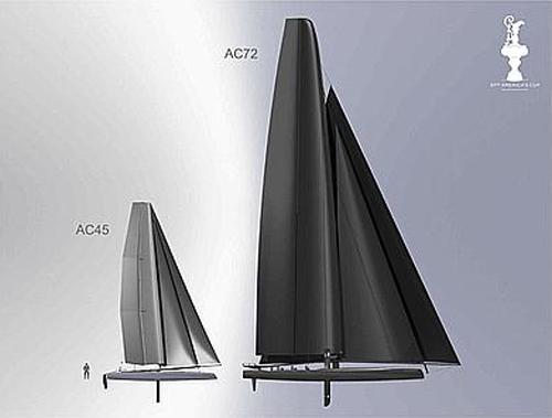Le nuove classi di catamarani AC45 e AC72 per la America's Cup