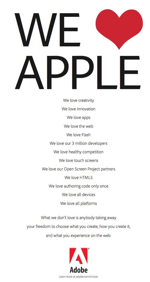 La lettera di Adobe