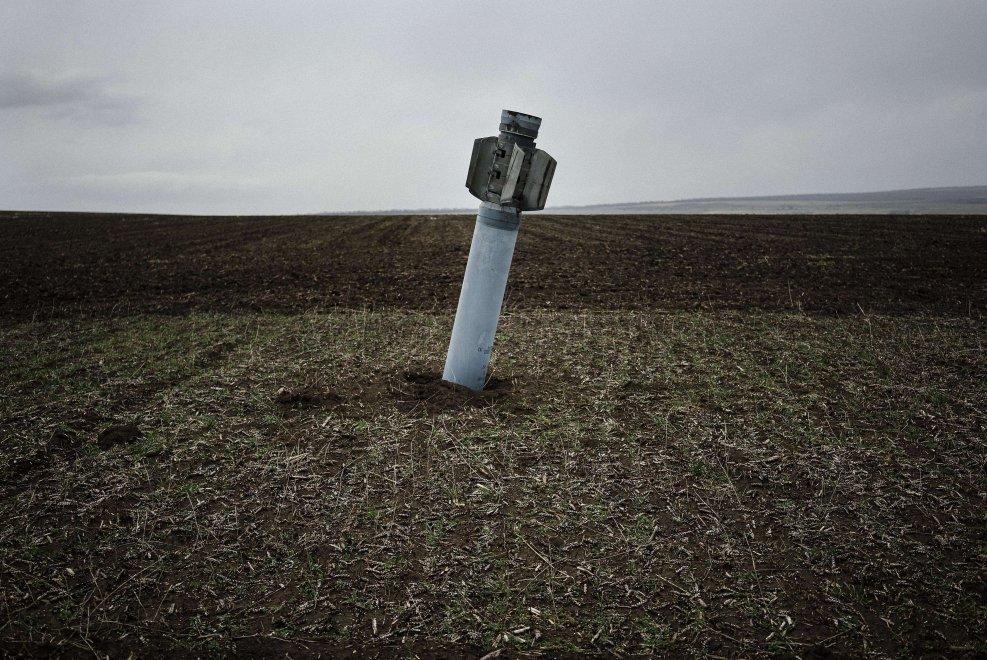 Missile russo inesploso in Ucraina