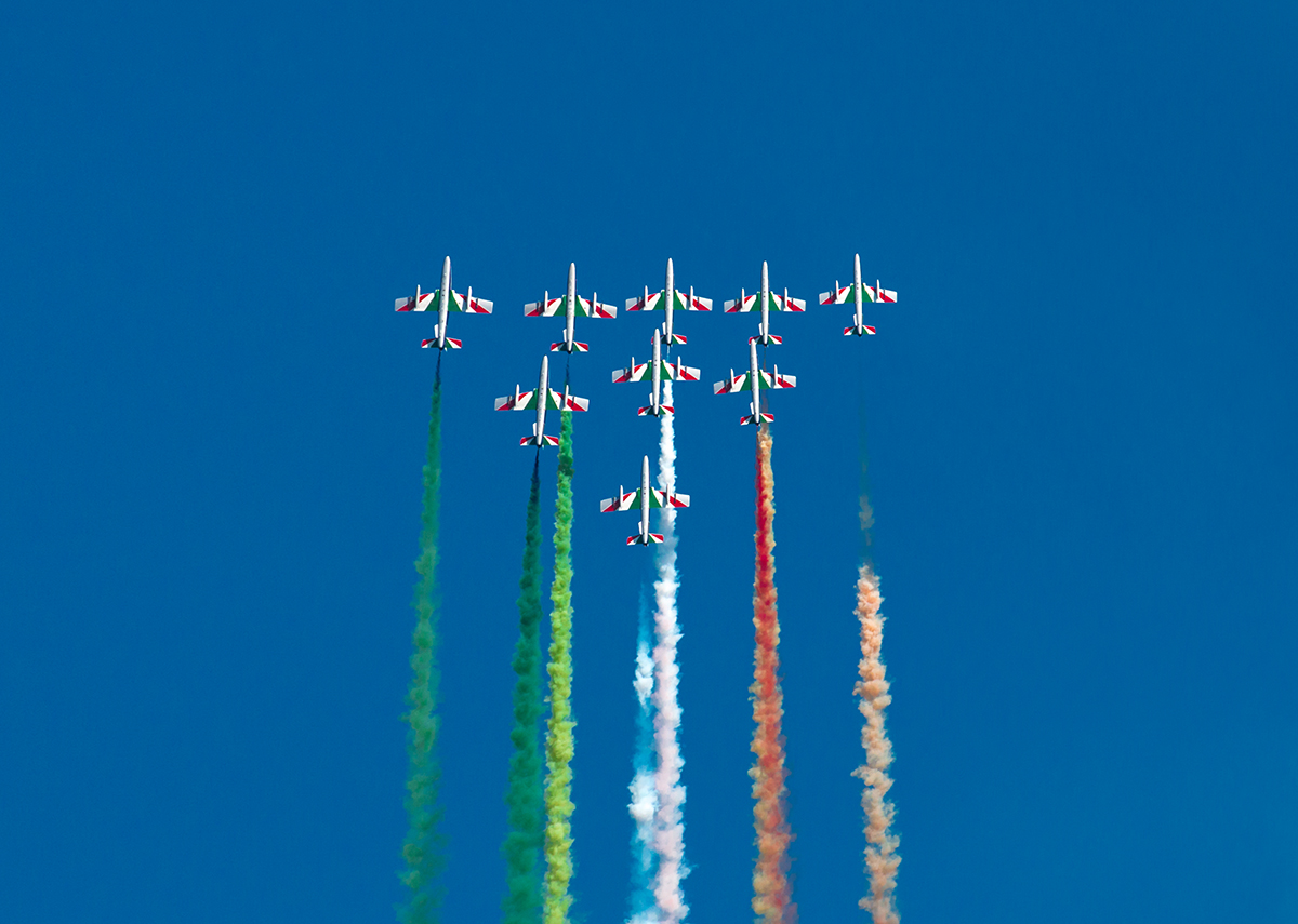 Le Frecce Tricolori all'Air Show Loano 2016