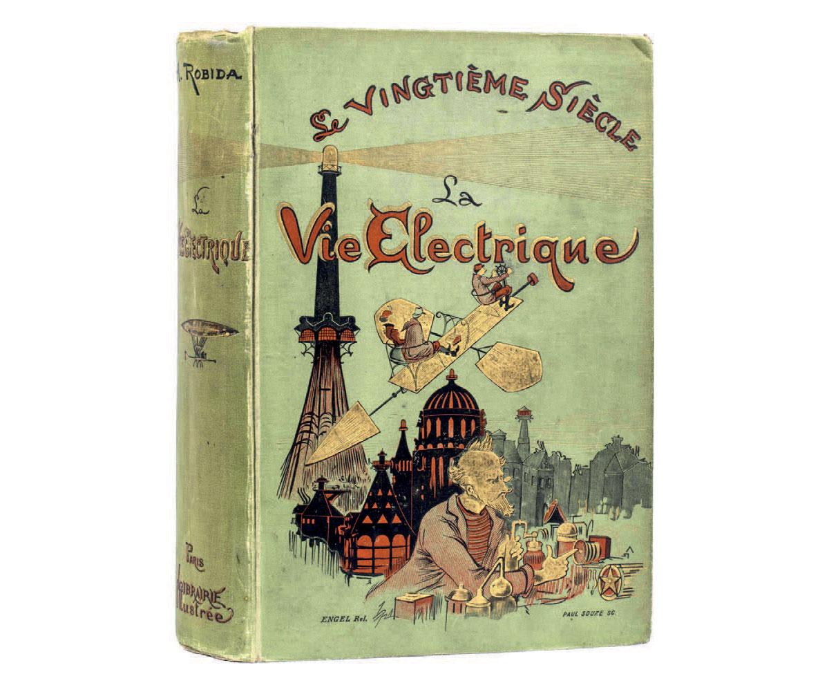 Le vingtième siècle ou La vie électrique, 1890, di Albert Robida
