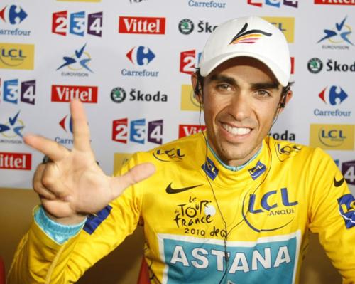 Alberto Contador vince il Tour de France 2010