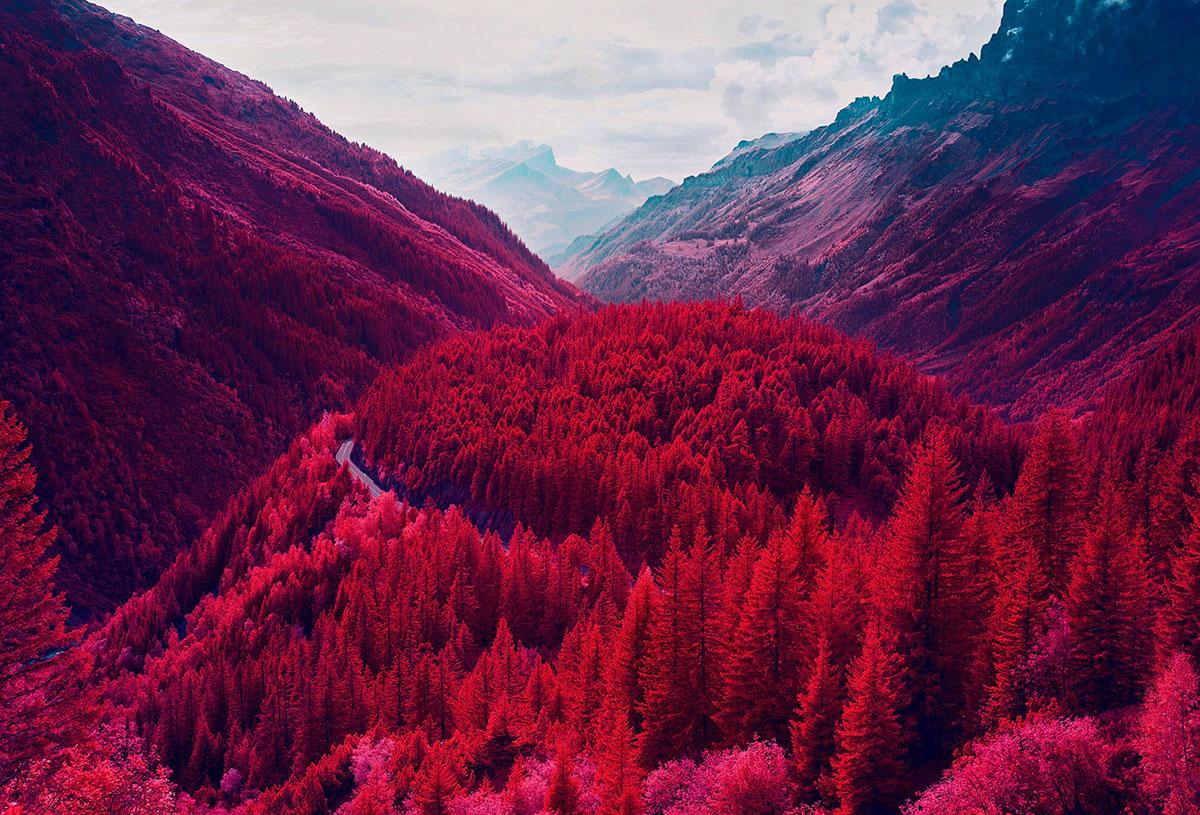 Le Alpi fotografate all'infrarosso
