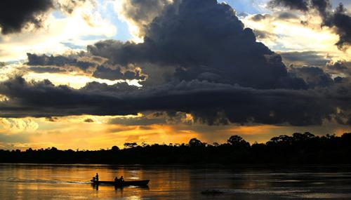 La parte peruviana della foresta Amazzonica