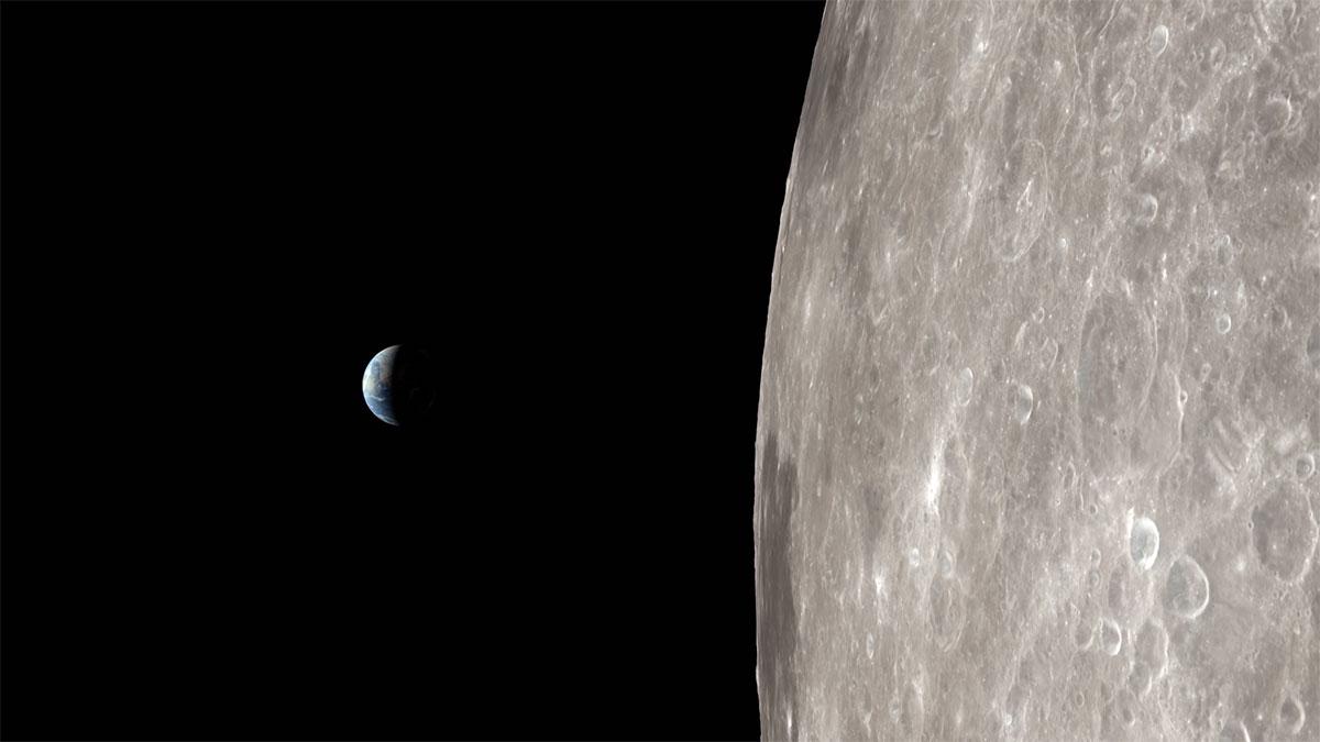 La Terra vista dall'orbita lunare