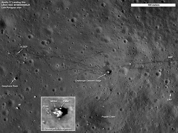 Foto satellitari dell'allunaggio