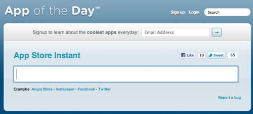 Screenshot di App Store Instant