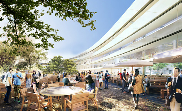 Rendering del nuovo campus Apple