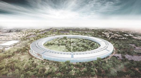 Il progetto per il futuro campus di Apple