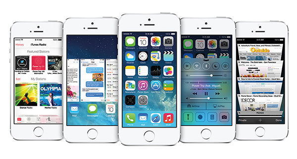 iPhone 5S e iOS 7