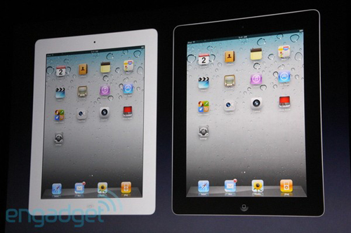 iPad 2 in due colori bianco e nero