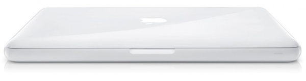 Un MacBook bianco