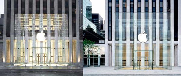L'Apple Store sulla Fifth Avenue prima e dopo il restyling