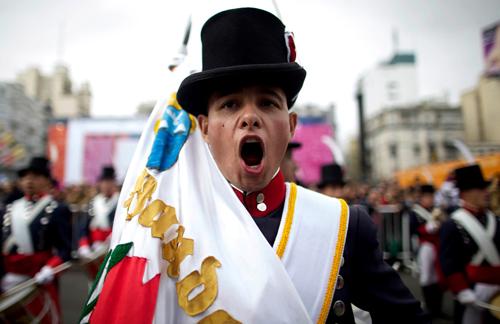 Le celebrazioni per il duecentenario dell'indipendenza dell'Argentina