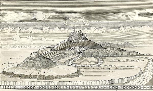 Un'illustrazione de Lo Hobbit di J.R.R. Tolkien