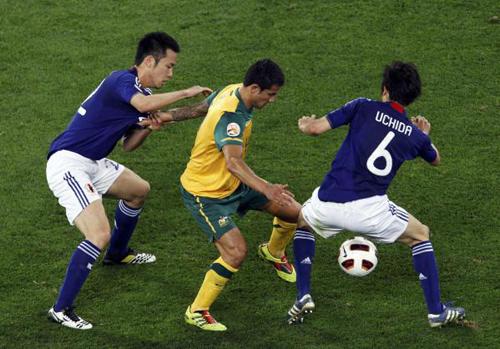 Un momento della finale tra Australia e Giappone
