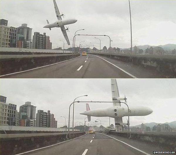 Le foto dell'incidente aereo del volo TransAsia