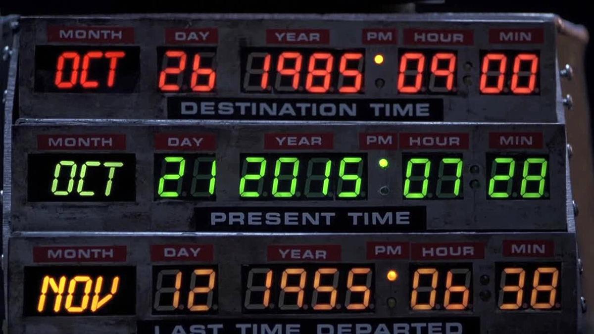 Quadro comandi temporali della DeLorean di Ritorno al Futuro