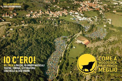 Foto aerea del festival Balla coi cinghiali di Bardineto
