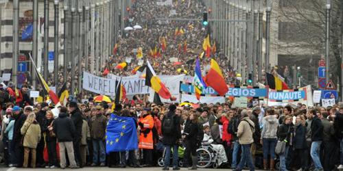 La manifestazione Shame a Bruxelles