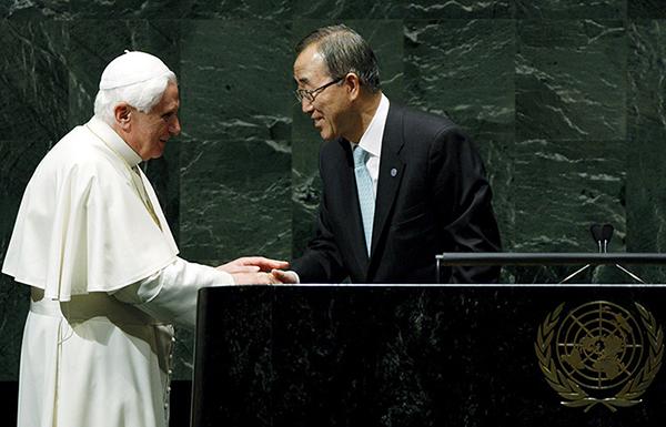 Benedetto XVI con Ban Ki-moon