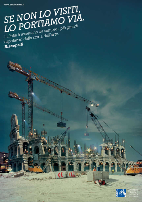 Il manifesto della campagna per i Beni Culturali in Italia