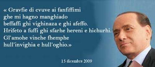 Il finto messaggio di Berlusconi