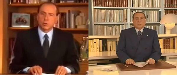 Berlusconi nel 1994 e nel 2013