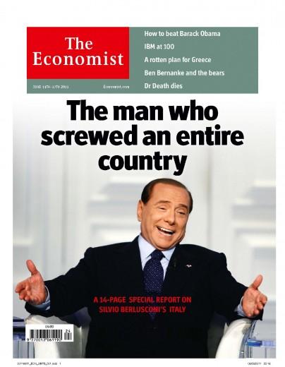 La copertina dell'Economist su Silvio Berlusconi