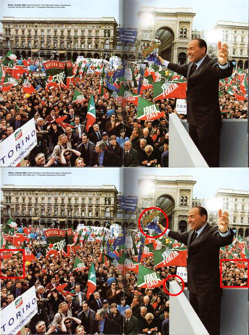 Le foto ritoccate nell'album 'Noi amiamo Silvio'