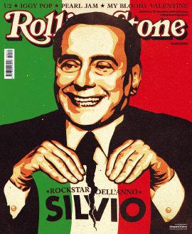 La copertina di Rolling Stone Italia: Berlusconi rockstar dell'anno