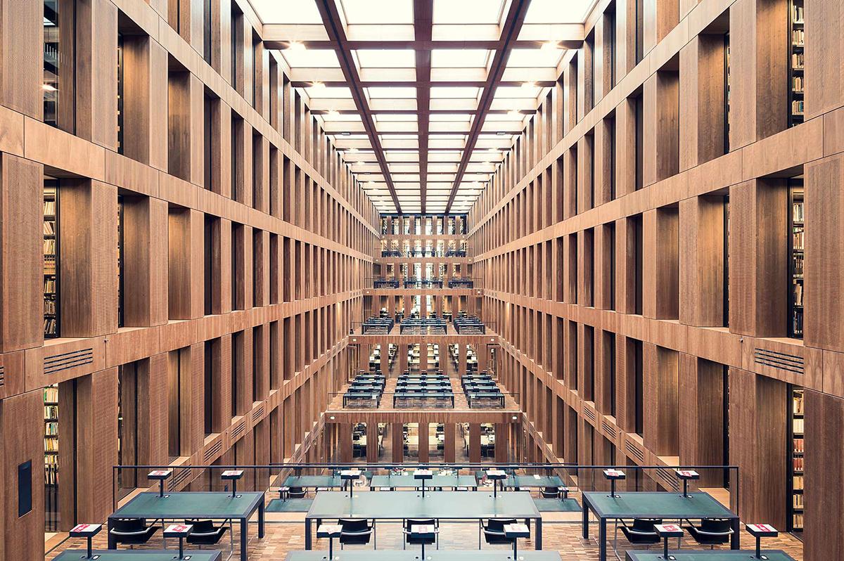 Biblioteche fotografate da Thibaud Poirier