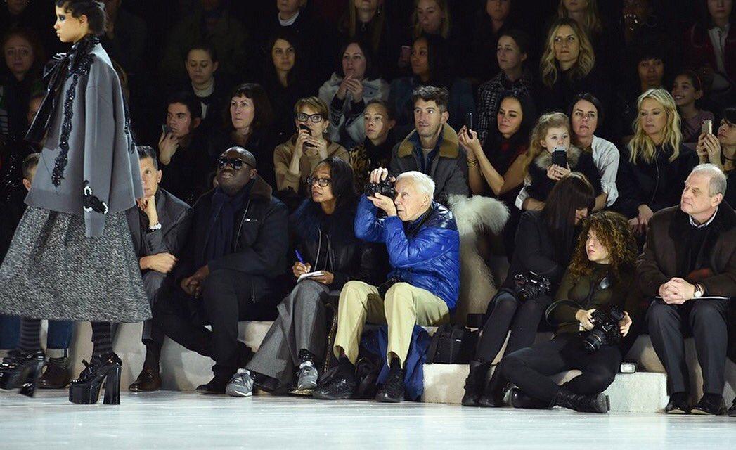 Bill Cunningham a una sfilata di moda