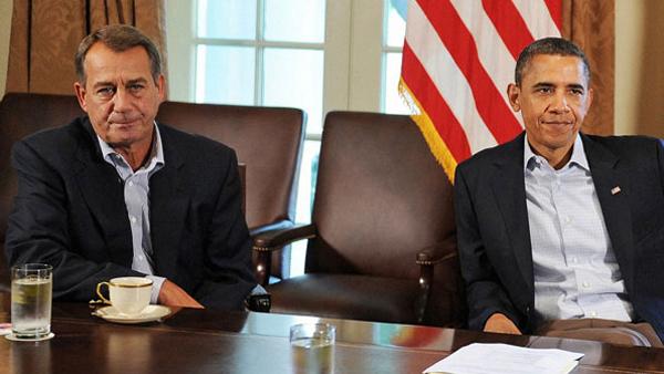 John Bohner e il presidente Obama