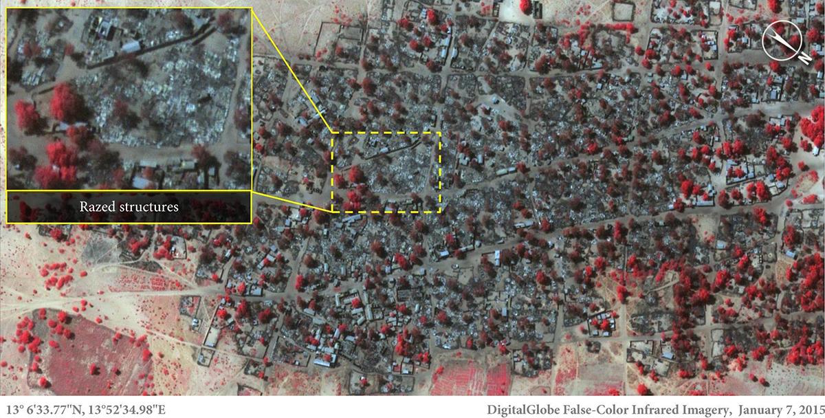 La strage di Boko Haram vista dallo spazio