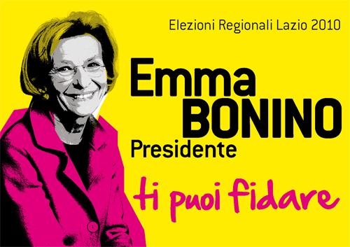 Manifesto di Emma Bonino, candidata governatore del Lazio