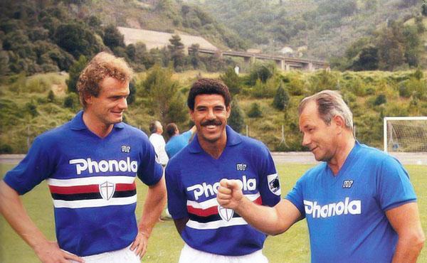 Boskov alla Sampdoria con Briegel e Cerezo