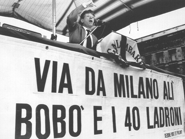 Bossi a Milano negli anni '90