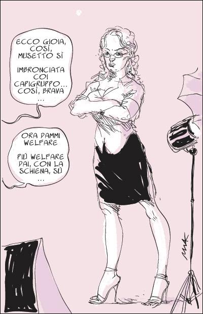 La vignetta di Makkox sulle veline in Parlamento