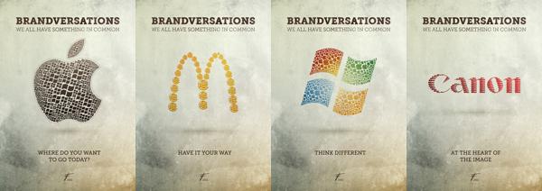 Brandversation nei marchi Apple, McDonald's, Microsoft e Canon
