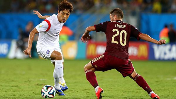 Corea del Sud-Russia alla Coppa del Mondo 2014