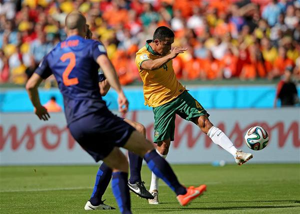 Australia-Olanda alla Coppa del Mondo 2014