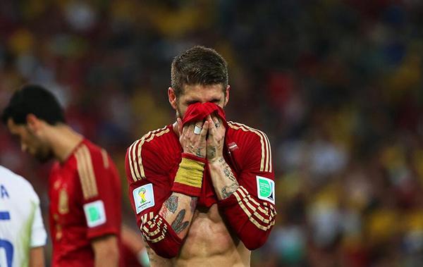 La Spagna eliminata dalla Coppa del Mondo 2014