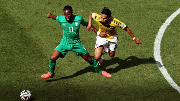 Colombia-Costa d'Avorio alla Coppa del Mondo 2014