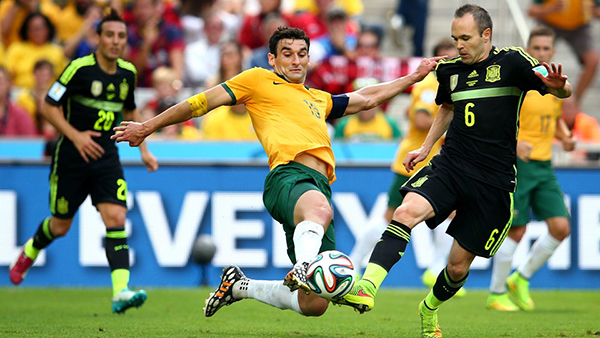Spagna-Australia alla Coppa del Mondo 2014
