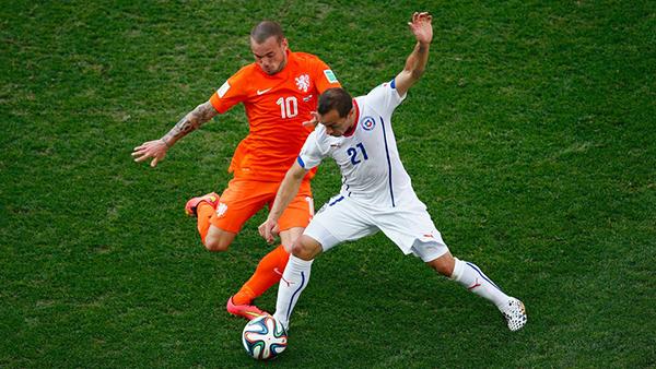 Cile-Olanda alla Coppa del Mondo 2014