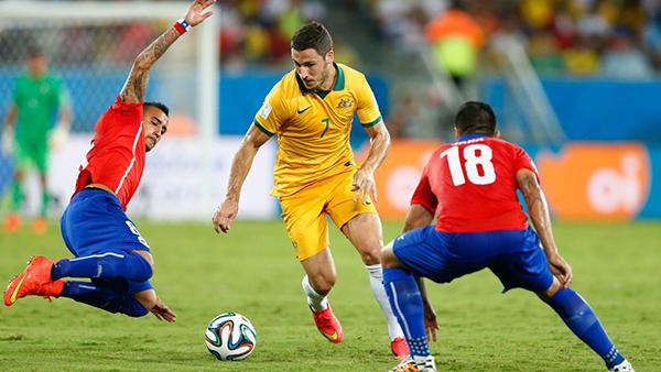 Australia-Cile alla Coppa del Mondo 2014