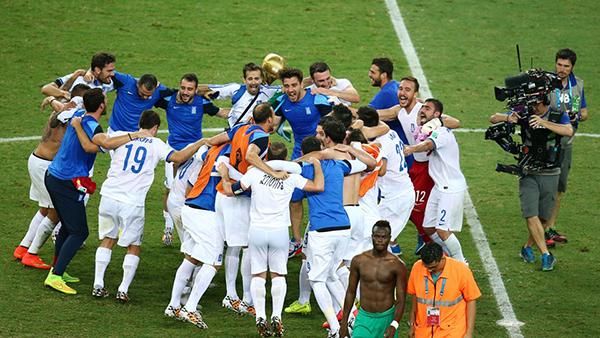 La Grecia festeggia alla Coppa del Mondo 2014